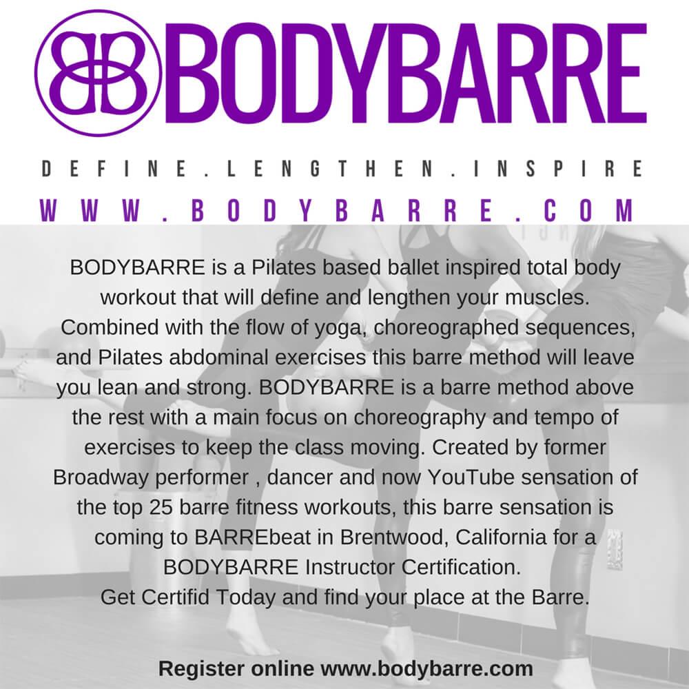 Bodybarre Instructor Certification Barrebeat